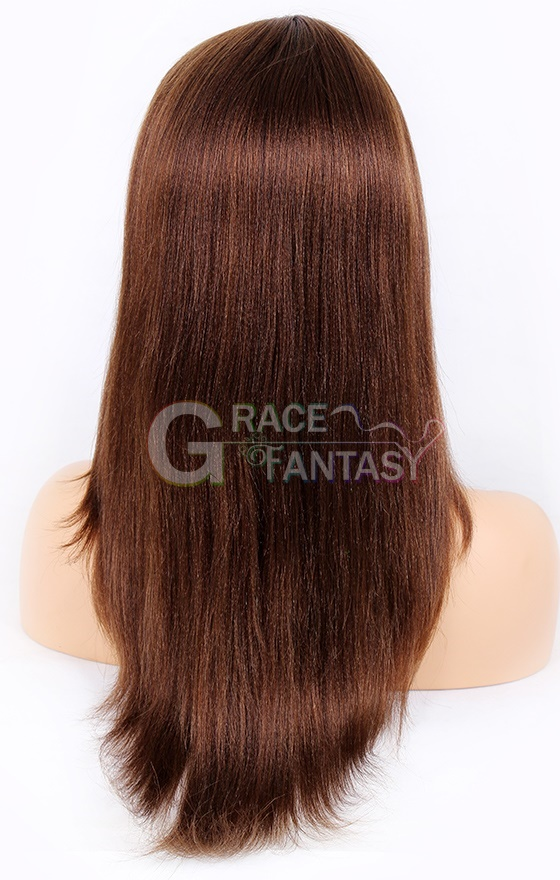 Natural Color Pre Plucked Glueless Lace Wigs Human Hair