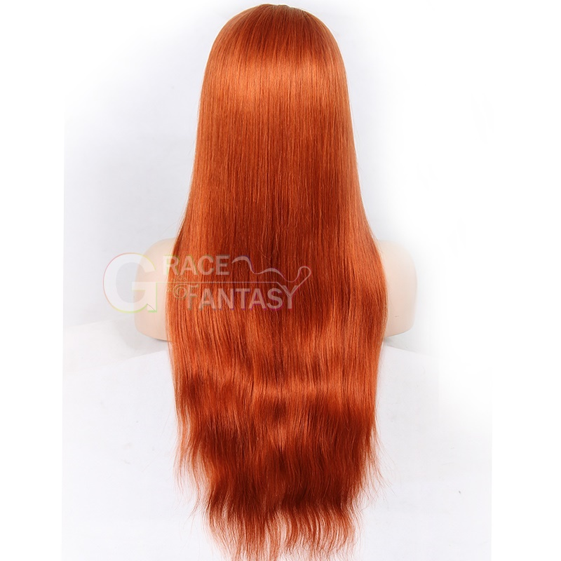 Remy Hair Glueless Lace Front Wig Pre Plucked Hair