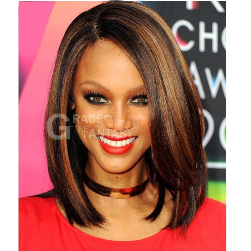 New 7A Brazilian Lace Front Bob Wig Glueless Lace Frontal Wigs Short Bob Ombre Human Hair 1B #30 Two Tone Color Short Silky Straight Virgin Human Hair Wig with Baby Hair