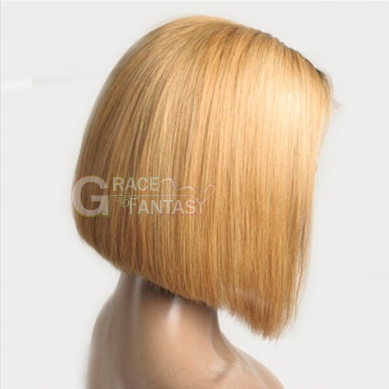 Short Silky Straight Lace Frontal Wigs