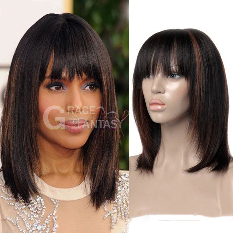 Bob Human Hair Lace Front Wigs with Baby Hair High light 1B #30 Tone Color Short Bob Ombre Human Hair Silky Straight Pre Plucked Glueless Human Hair Wigs