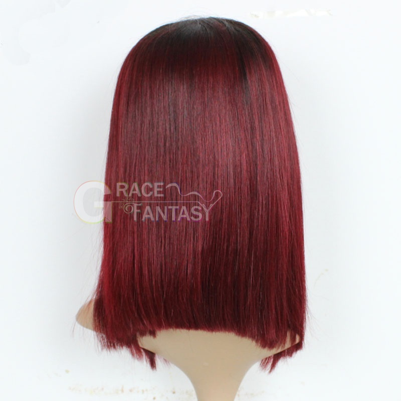 Brazilian Silky Straight Human Hair Lace Front Wigs