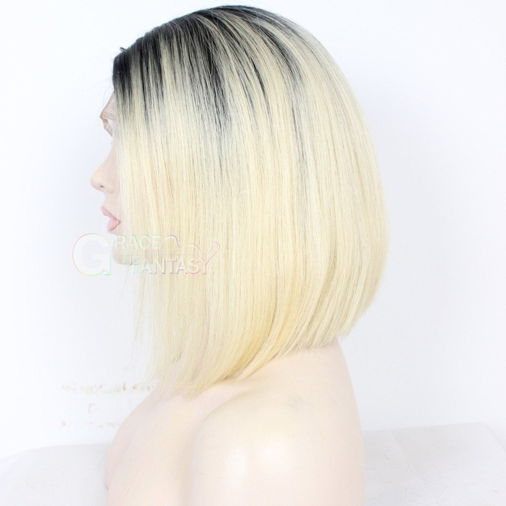 Blonde Ombre Human Hair Lace Front Wigs