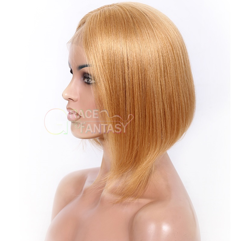 Straight Lace wig With Baby Hair Silk Straight Human Hair Lace Front Wigs