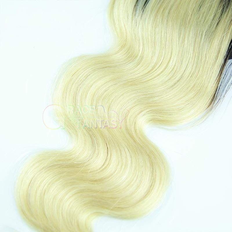 Lace Closure Free Middle Three Part Blonde