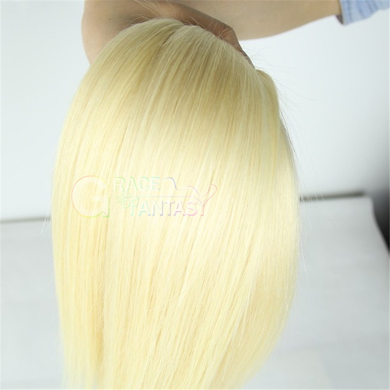 Body Wave Lace Closure Free Middle Three Part Blonde