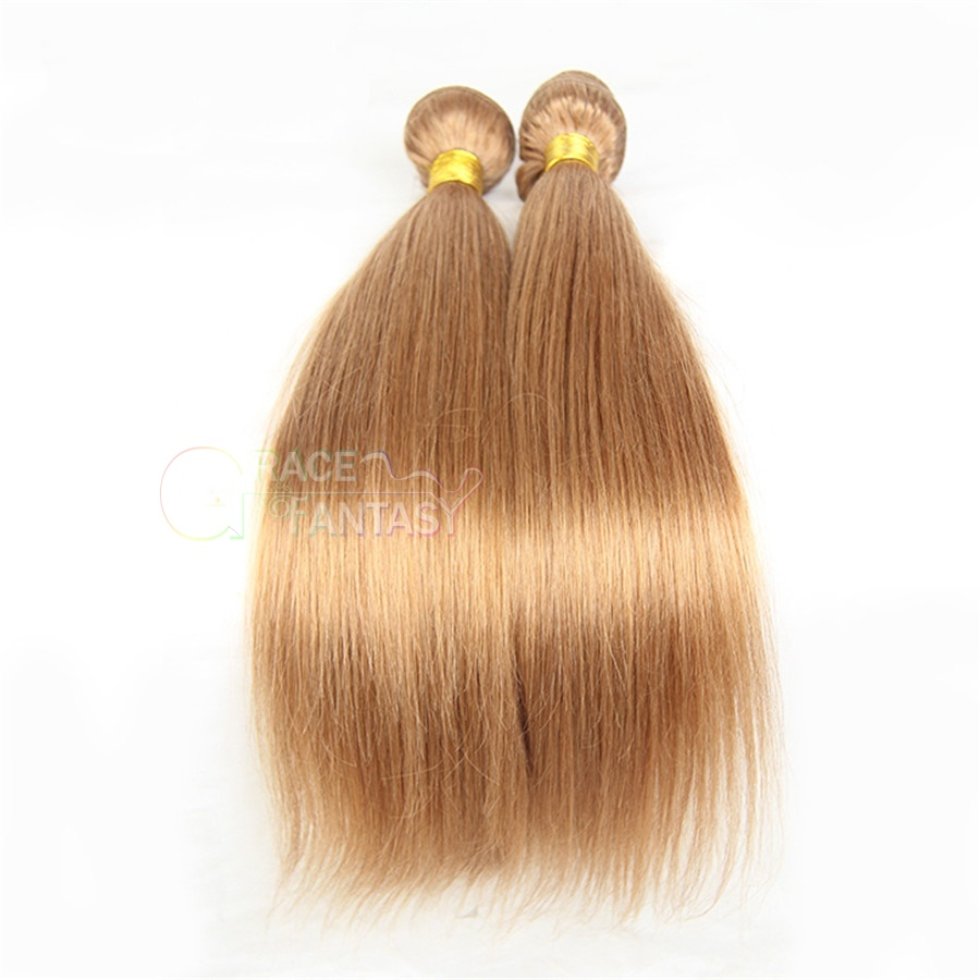 Human Virgin Hair Extensions 8A Grade Natural Blonde Color