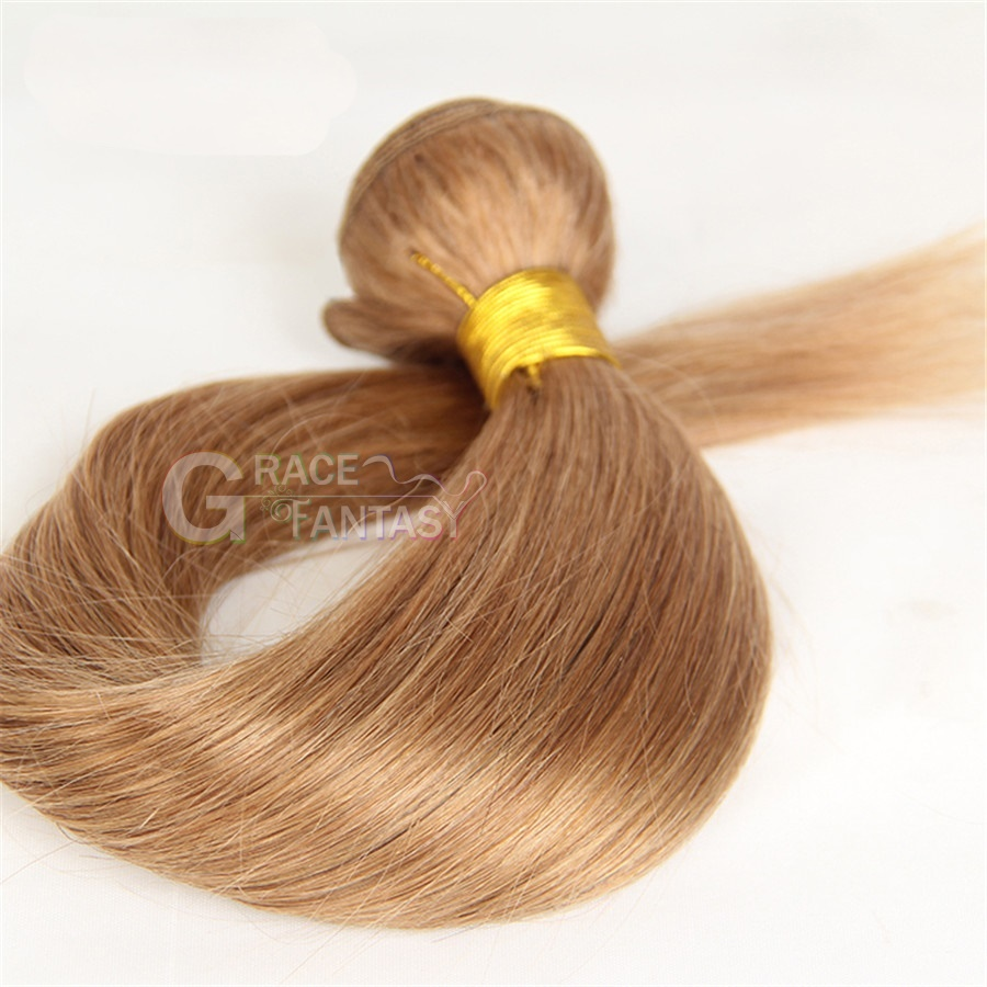 Grace Fantasy Peruvian Human Hair Straight Hair Bundles Cheap Peruvian Weft Hair Weave 100 Human Virgin Hair Extensions 8A Grade Natural Blonde Color