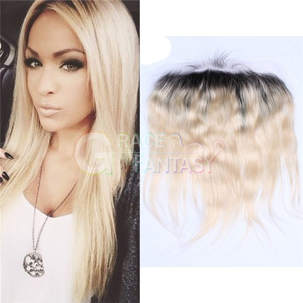 "#613 Blonde Peruvian Lace Front Closures 4X4"" Bleached Knots Peruvian Natural  Wave Lace Closure Free Middle Three Part Blonde Top Lace Closures"