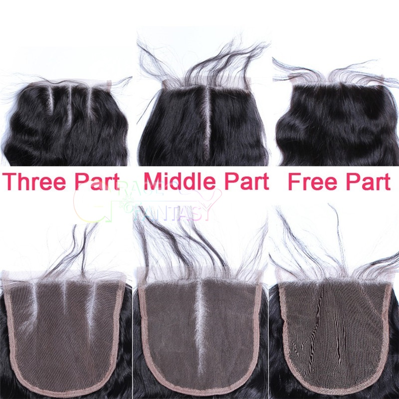 Black human virgin Hair Lace Top Closure