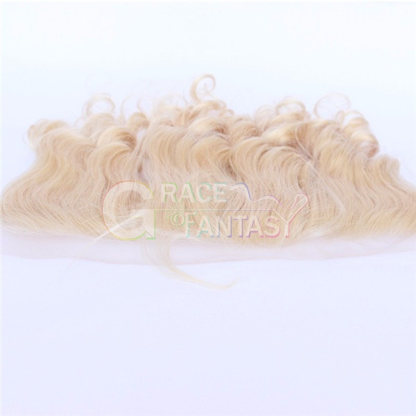 Grace Fantasy Blonde Brazilian Lace Frontal Closure Free Shipping 13x4 Ear to Ear Lace Frontals #613 Blonde Silky Straight with Baby Hair Human Hair Lace Frontal Closure