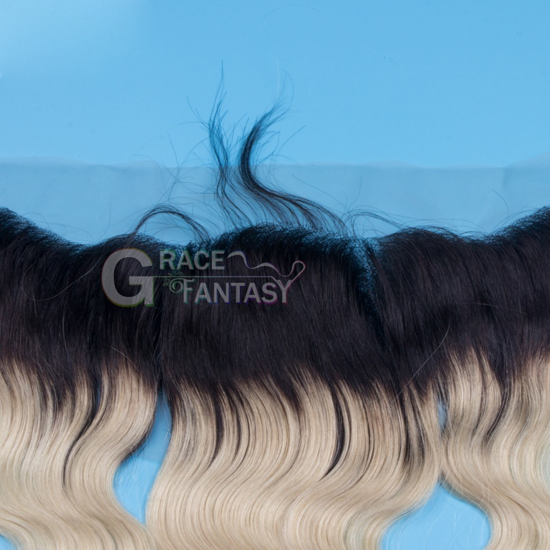 Free Part Bleached Knots Virgin Body Wave Lace Frontals