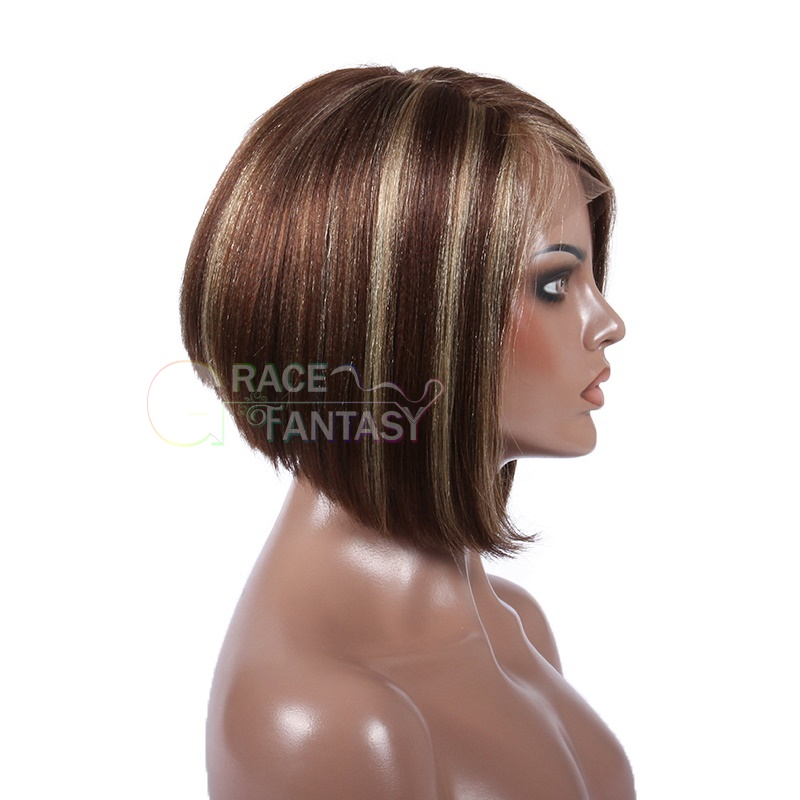 Style Remy Human Hair Short Natural Brown to Blonde