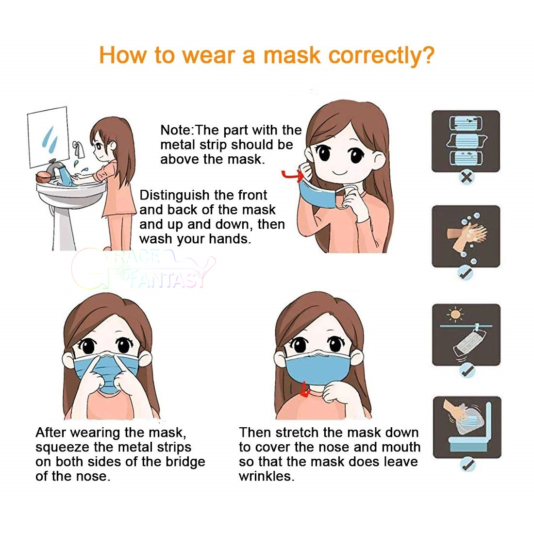 Disposable Face Mask Surgical Medical Ear Loop Mouth Masks