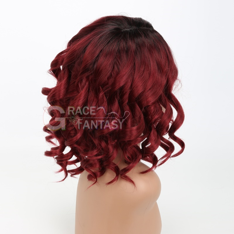Curly Synthetic Lace Wigs