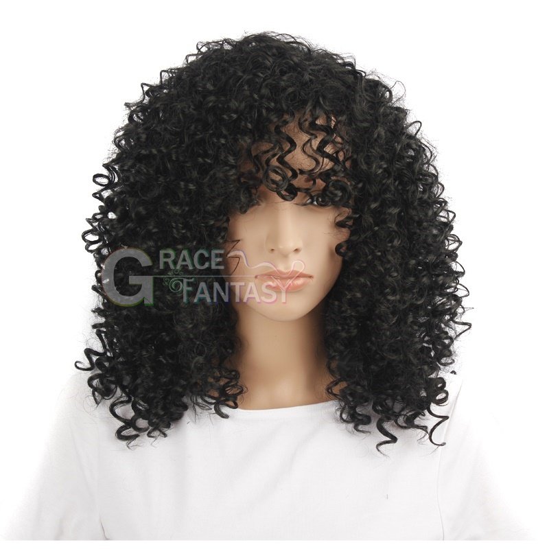 Shoulder Length Long Curly Wigs