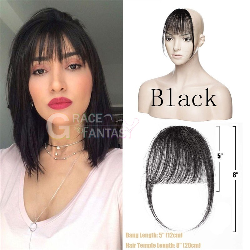 bangs with clips fringe hair extensions hair pieces for women