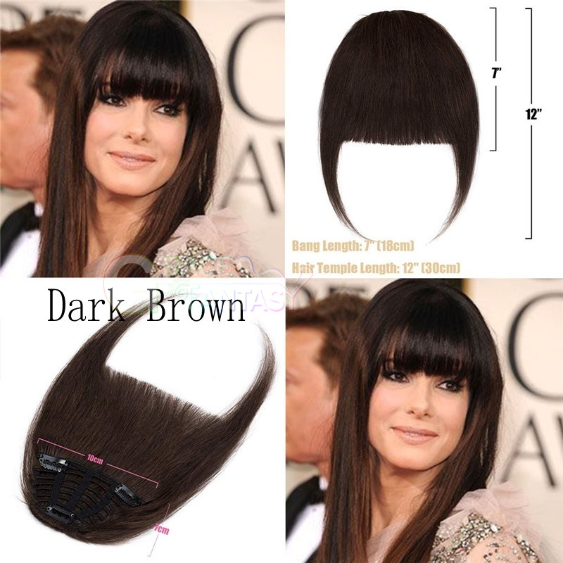 bangs with clip blonde brown black color natural looking