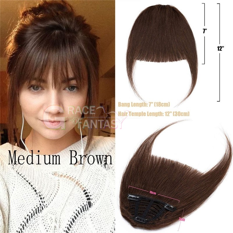 blonde brown black color natural looking with temple fringe