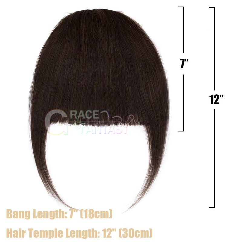 with temple fringe hair pieces for daily wear