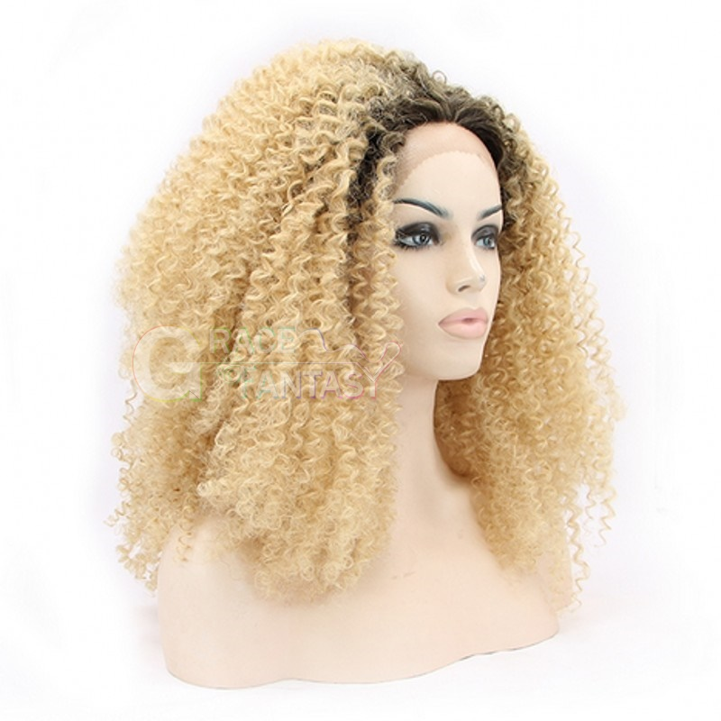 synthetic lace front blonde wig