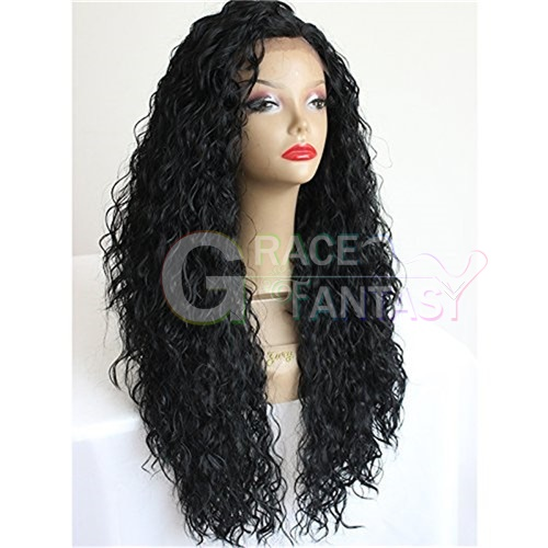 afro kinky curly synthetic lace front wigs
