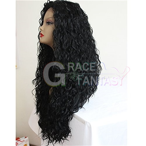Clueless Brown Afro Kinky Curly Synthetic Lace Fronts