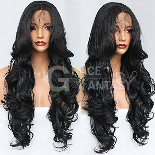 Long Curly Wavy synthetic lace front wigs