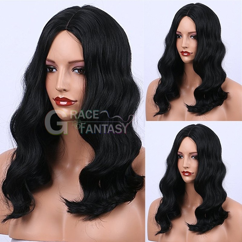 Fashion Loose curly synthetic lace front wig heat resistant for african american curly lace wig with baby hair
