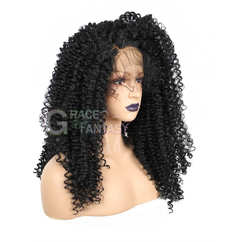 African American Kinky Curly Lace Wigs