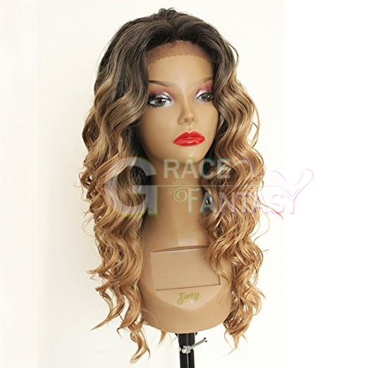 Loose Curly Synthetic Hair Lace Wigs