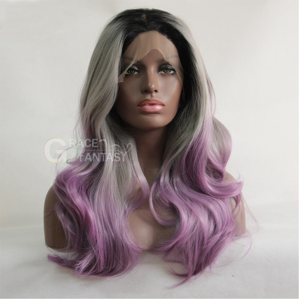Wave Grey Synthetic Lace Wigs