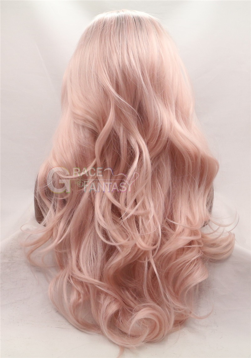 Long Glueless Two Tone Synthetic Wigs
