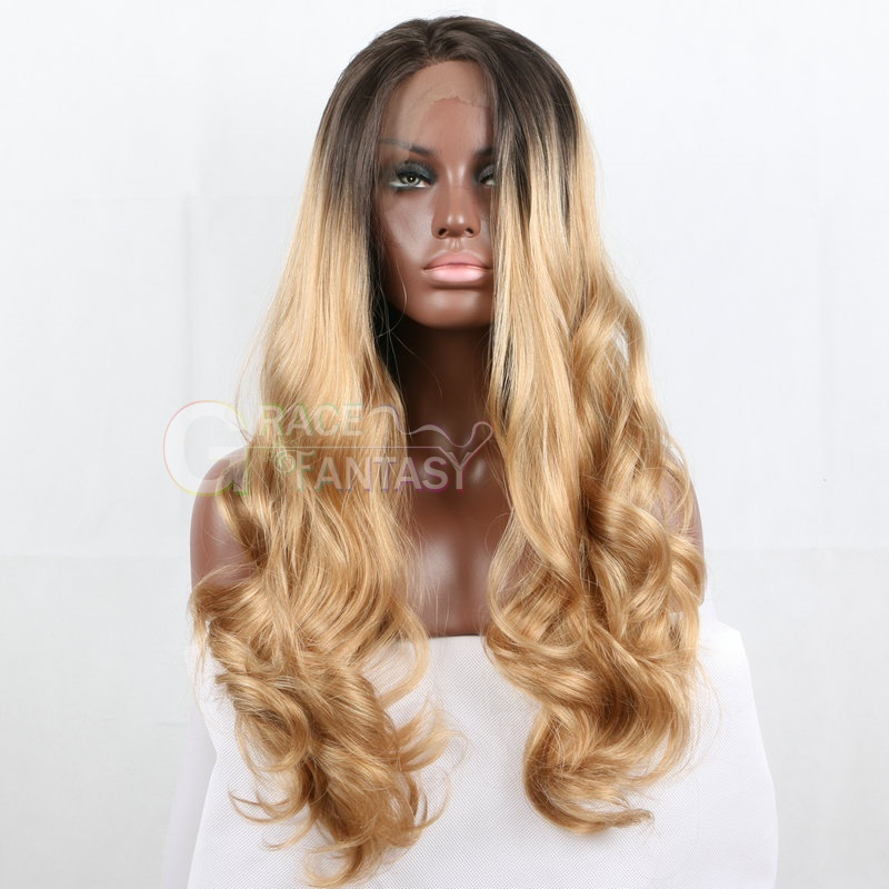 Long Body Wave Synthetic Lace Front Wig
