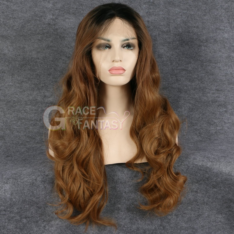 Ombre Brown Synthetic Wigs For Women