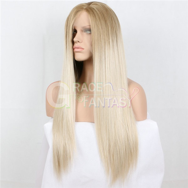 Natural Hairline Long Synthetic Lace Front Wigs Free Part