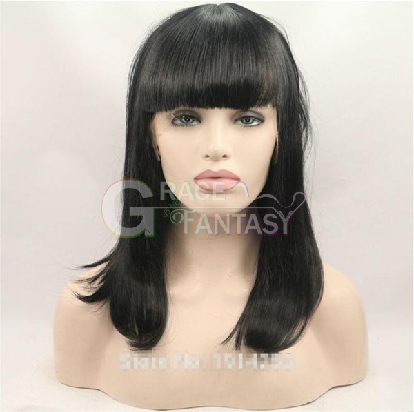 bangs black hair wigs