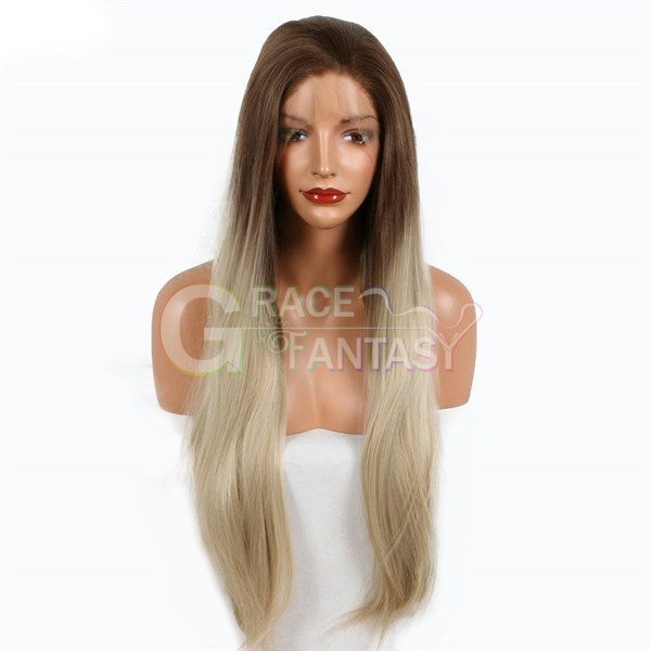 New!!! Brown Ombre Blonde Synthetic Lace Front Wigs