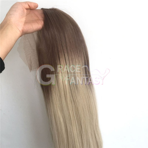 Brown Ombre Blonde Synthetic Lace Front Wigs