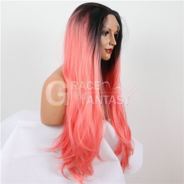 Heat Resistant Glueless Ombre Synthetic Lace Front Wigs