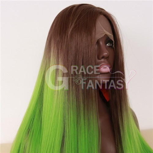 Silky Straight Synthetic hair Front Lace Wigs