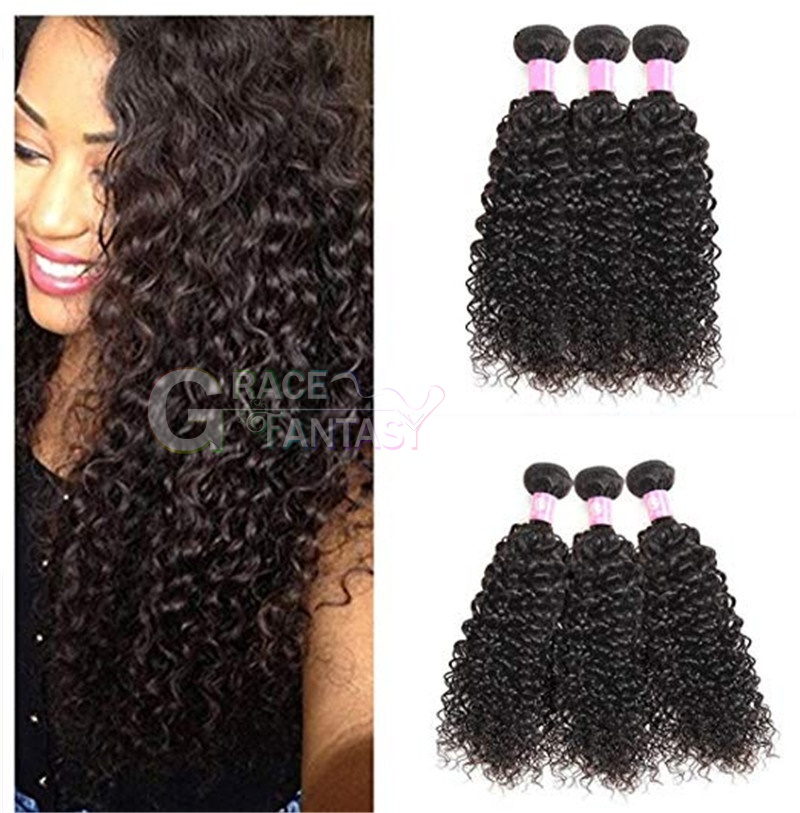 Amazing celebrity hair extensions Rihanna hairstyle afro kinky curly brazilian hair weave natural black color curly hair weave free shipping