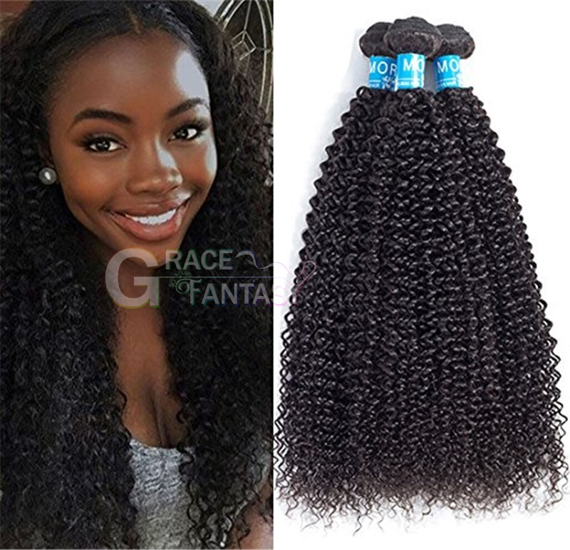 7A+ Natural Black Afro Kinky Curly Mongolian Virgin Hair 8''-30''Mongolian Kinky Curly hair weave Human Hair Products
