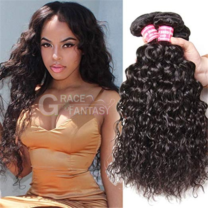 Brazilian Hair Extensions Virgin Hair Water Wave 7A+ Human hair extensions 8-30inch instock