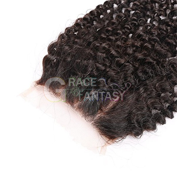 Kinky Curly Human Hair Lace Closure