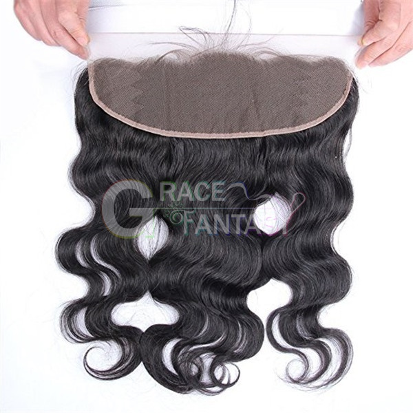 Free Shipping 7A+ Human Hair Brazilian Lace Frontal Closure 13x4 With Baby Hair Free Part Bleached Knots Virgin Body Wave Lace Frontal