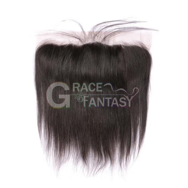 brazilian lace frontal closure #1b to grey silky straight