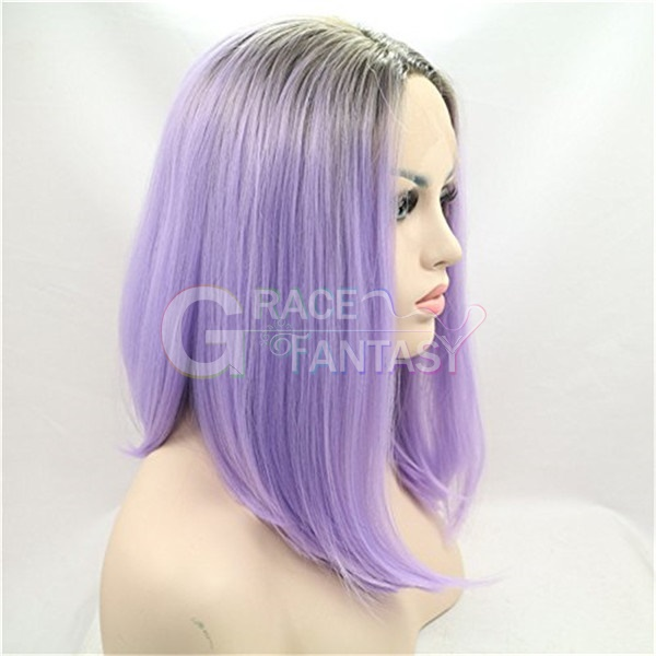 Ombre Purple Synthetic Wigs for Women