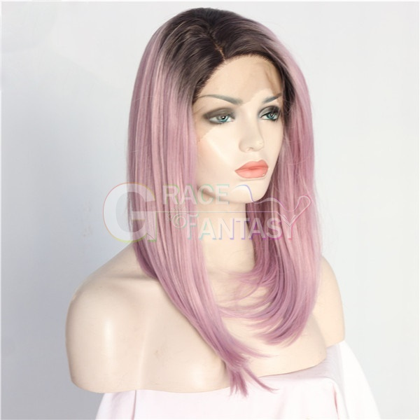 Synthetic Straight Hair Natural Looking Shoulder Length Wig