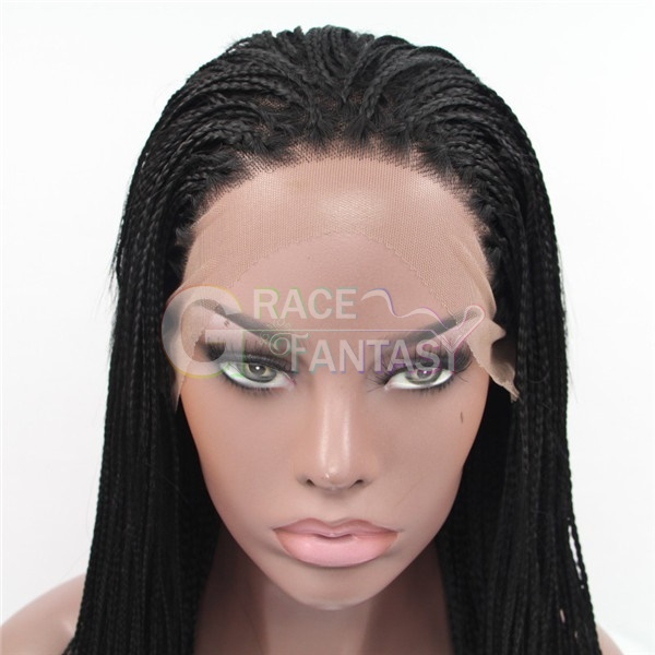 synthetic lace front braided wig